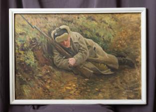 Солдат в окопе