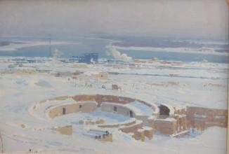 Эскизы и этюды к диораме «Сталинградская битва» 1