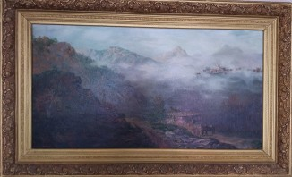 Утро в кавказских горах