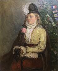 Портрет дочери перед новогодним балом