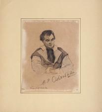 Портрет актера В.Р. Ольховского (1895-1935) [автограф]. 1924 г.