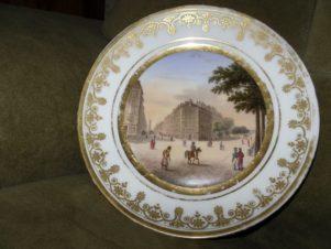 Фарфор. Тарелка. 19 век. Ручная роспись.