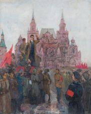 Выступление Свердлова на Красной площади