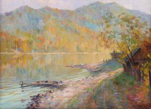Утро на золотом озере. Турочак