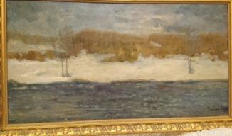 «Пейзаж у реки». (Март. У реки.)