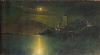 Замок у моря. Ночь