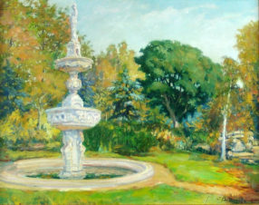 В парке у фонтана