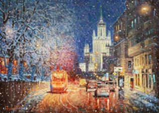 Заискрился снежный город