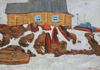 Лодки на берегу Клязьмы