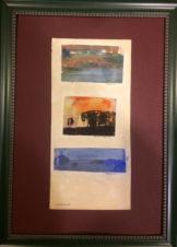Коллаж из 3-х работ (Пашня, Кровавый закат, Замело)