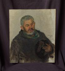 Этюд для картины «В.И. Ленин и Н.К.Крупская среди крестьян» (Дед Мелов)