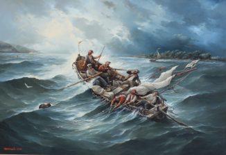 «Буря на Волге Рыбаки»