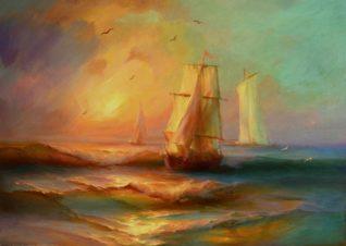 «В море»