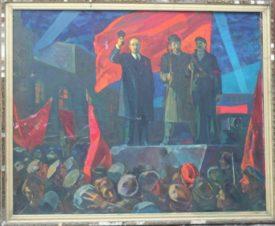 В.И. Ленин выступает с броневика у финляндского вокзала