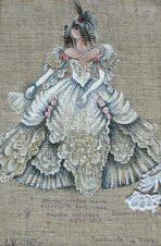 Эскиз костюма к опере Д.Верди «Травиата»