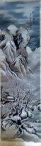 На горе Эймшань прошел снег