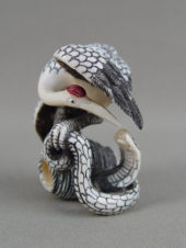 Окимоно «Змея и журавль»