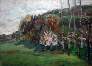 Пейзаж. Деревья в цвету
