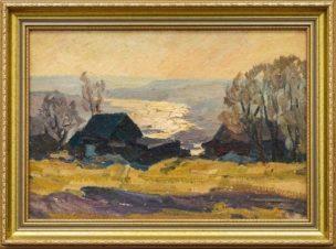 Эскиз к картине «Осень на Оке»
