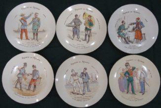 Старинные тарелки Франко-Русский альянс