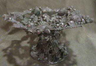 Старинная ваза фруктовница. Купеческий стиль (Царская Россия)