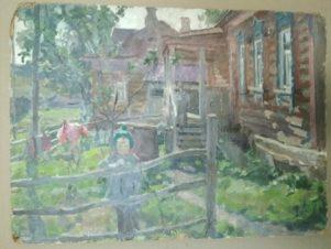 Этюд к картине «Детский сад в деревне»