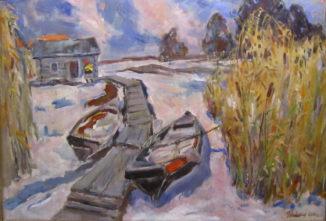 Лодки на снегу