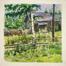 Пейзаж с сельским домом