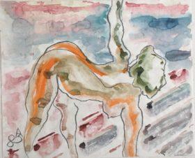 Обнаженная гимнастка