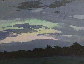 Клязьменское водохранилище. Вечерний закат