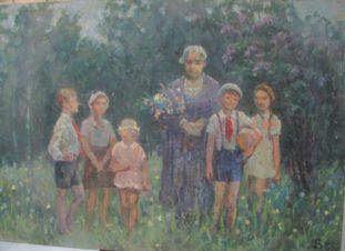 Крупская и дети