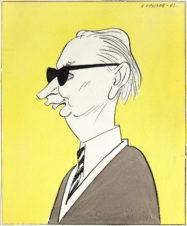 Таллинский журналист Эдгар Сприйт. Рисунок для журнала Крокодил №29