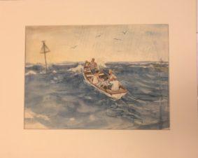 В лодке