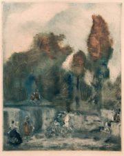 Пейзаж с фигурами №6