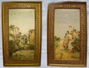 Парные картины «Акведук» и «Башня»