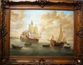 Парусные корабли на рейде