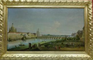 «Вид на Дрезден с правого берега Эльбы» по Бернардо Белотто