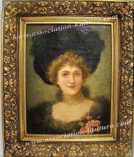 «Портрет молодой дамы в черной шляпе с перьями»