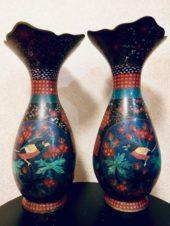 Пара ваз — клуазоне