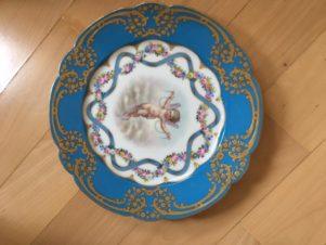 4 тарелки «Путти» фарфор