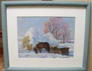 Зимний этюд с лошадкой