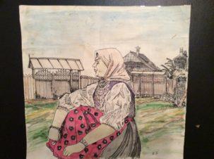 Иллюстрация (двойной разворот) к роману М. Горького «Дело Артамоновых»