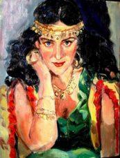 Портрет жены художника. Цыганка