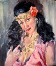 Портрет актрисы, жены художника. Цыганка