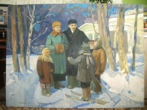 Ленин и Крупская с детьми