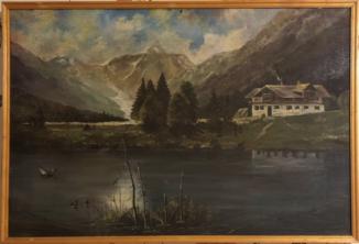 Шале в горах у озера
