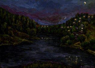 Огни над рекой