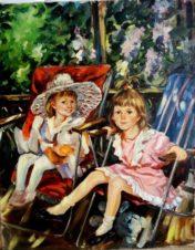 Портрет детей художника на даче