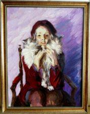 Портрет Т.Карсавина в детстве. С котятами