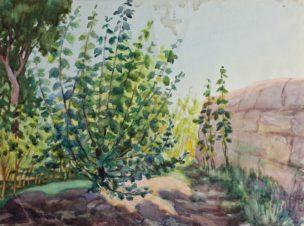 Пейзаж со стеной